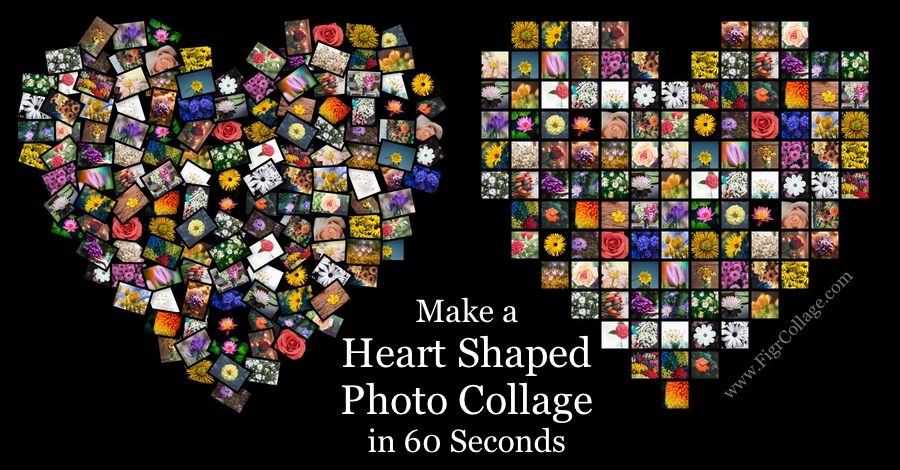Make A Heart Shaped Photo Collage In 60 Seconds Figrcollage